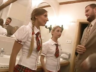 Eager for beaver instructor pummels yummy college girls in his office freeporn