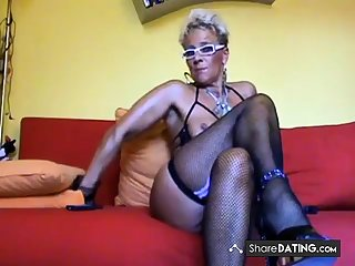 Magnificent busty MILF love anal
