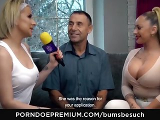 BOOTIES BESUCH - Huge-Chested German pornography starlet Dana Jayn tears up adult inexperienced fanboy