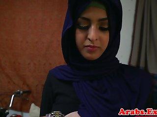 Arab hijabi fucked in forbidden tight pussy