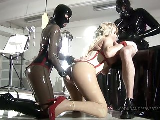 Horny Clinic Kink latex sex games with quite bootyful whores