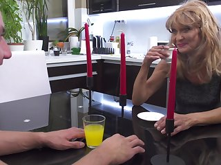 Szilvia M. gets say no to mature pussy pounded hardcore after dinner