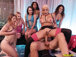 Steve Holmes chooses Luna Star out of other babes in brothel