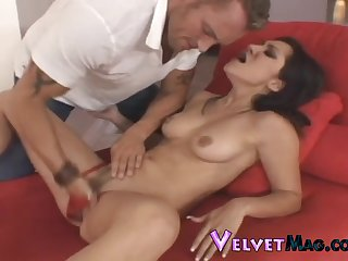 Hot babe Roxy Jezel gets fucked apropos her tight butt hole