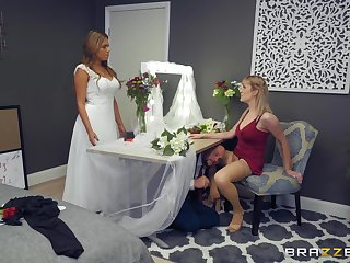 Sexy bridesmaid in stockings hooks up with the groom. Part 1 be beneficial to 2.