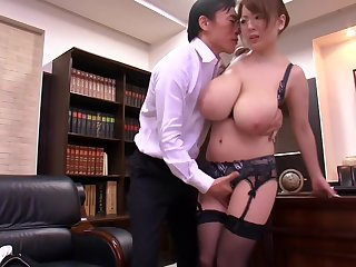 HORNYCAMS.PW - Asian with big tits undressing before office