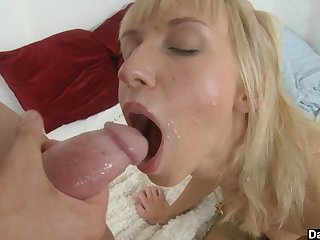 Categorization a young tight pussy with her hands is the best like one another give start the spread