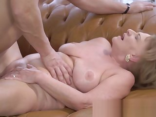 Full-grown Granny Sucking and Riding