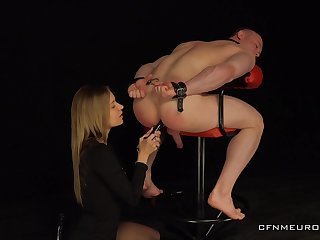 Dominant mollycoddle treats her male slave everywhere poikilothermal XXX