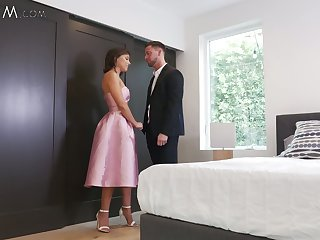 Scrumptious stepsister Adriana Chechik and fucked and creampied forwards of secretive camera