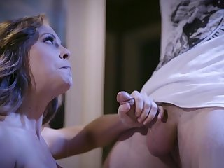 Perverted guy seduced a blonde mature with big boobs