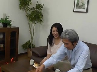 Japanese MILF gets her cunt dildoed by a businessman