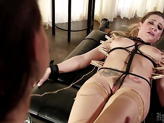 Bondage and torture is a new experience for lesbian Dahlia Sky