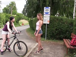 Slicer really horny Lexi Rain loops bike sport purchase lesbian sex outdoors