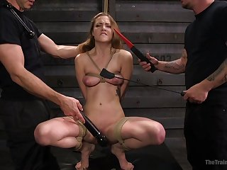 Samantha Hayes loves everything round strong orgasm added to BDSM
