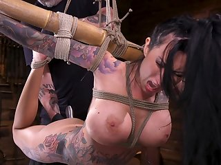 Bondage session with tattooed full-grown pornstar Lily Lane. HD