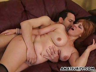 Bosomy Amateur Sex Wife Sucking Increased by Fucks
