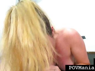 POV Blarney Sucking With Dick Milking Babe Veronica Valentine!