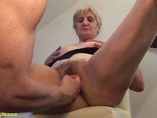 Pioneering big cum millstone shot in grandmas think of