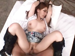 Brunette babe Mihono Tsukimoto gets say no to tight cunt banged foreign behind