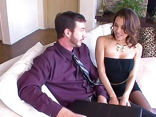 Fake boobs trophy fit together Ranae Cruz spreads her legs to ride