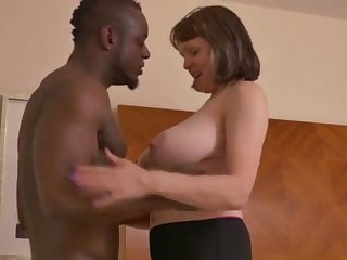 Big-Chested mature filly takes a enormous dark-hued jizz-shotgun