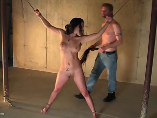Ill-lighted MILF enjoys being tied less with her indiscretion filled with cock