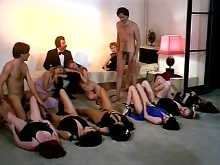 Vintage sexual relations orgy action with horny company be useful to girls