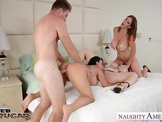 Cougars Charlee Chase, Holly Halston added to Sara Jay fucking