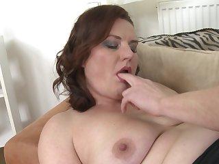 Amateur mature brunette MILF Marketa M. pussy pounded hardcore