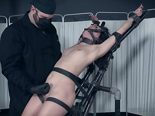 Hardcore BDSM fetish scene with slave girl Alex More harrowing