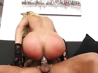 Fucking pretty ladyboy rides on locate getting a-hole crushed up